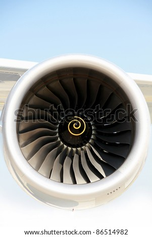 airplane turbine - stock photo