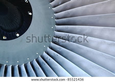 airplane turbine background - stock photo