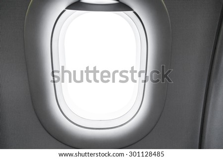 Airplane window  ( Filtered image processed vintage effect. ) - stock photo