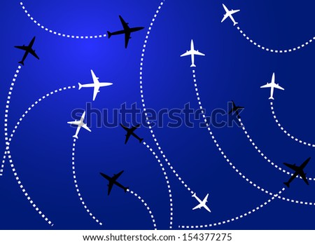 Airplanes blue - stock photo