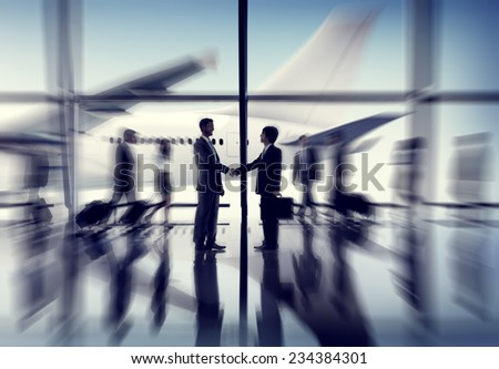 Airport Airplane Business Travel Terminal Transportation Commuter Concept - stock photo