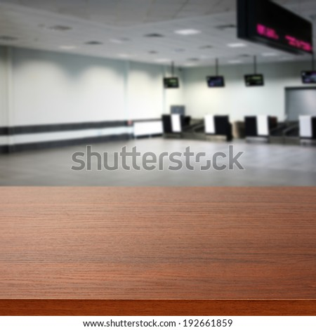 airport and brown desk  - stock photo