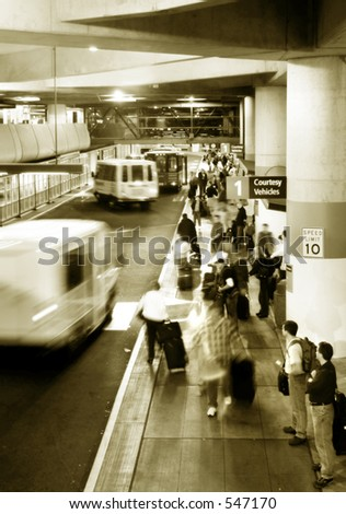 Airport arriving area - stock photo