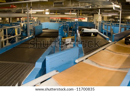 Airport Baggage System - stock photo