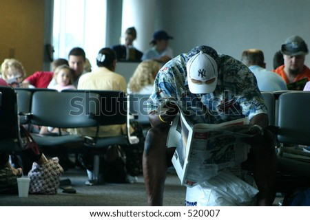 Airport Boredom - stock photo