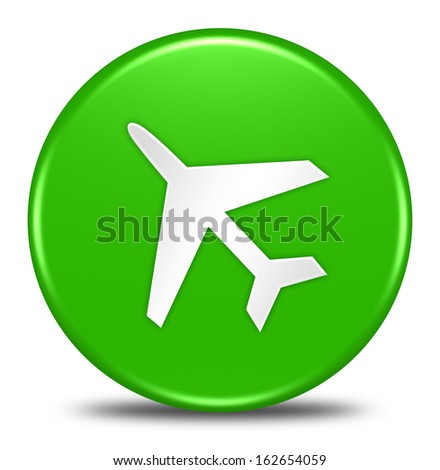 airport button isolated