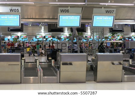 Airport Check-In - stock photo