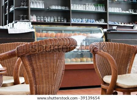 airport coffee shop, chengdu, china - stock photo