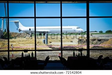 airport construction - stock photo