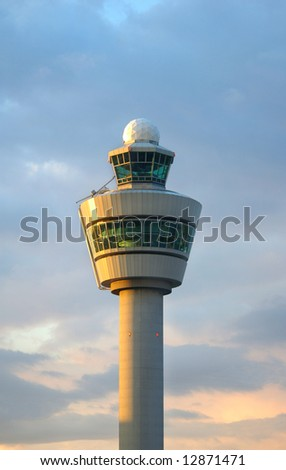 Airport control tower in Amsterdam (Schiphol)