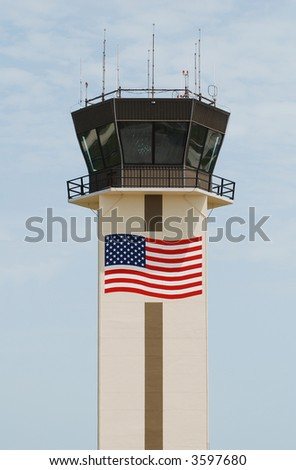 Airport control tower in Naples, Florida - stock photo