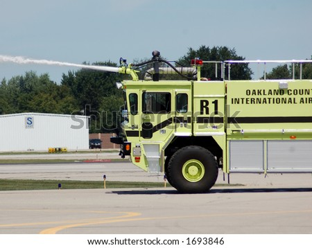 Airport Firetruck - stock photo