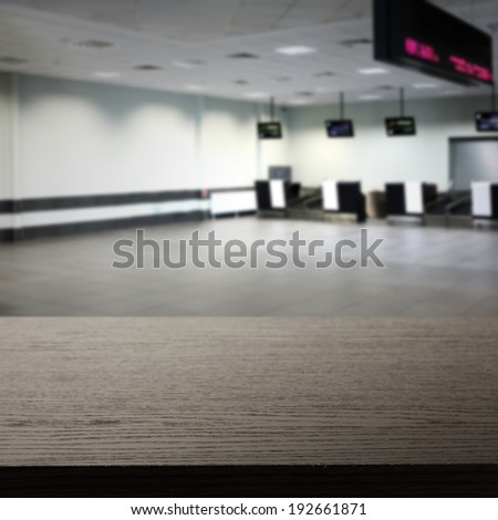 airport hall  - stock photo