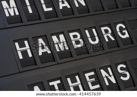 Airport Hamburg Sign - stock photo