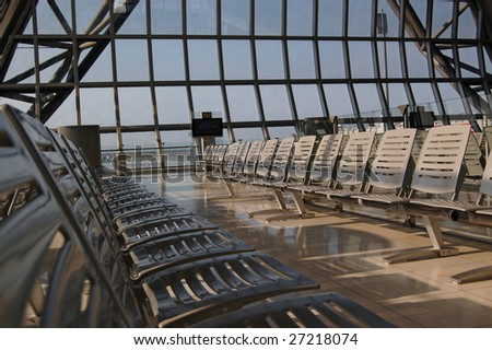 Airport in Bangkok - stock photo