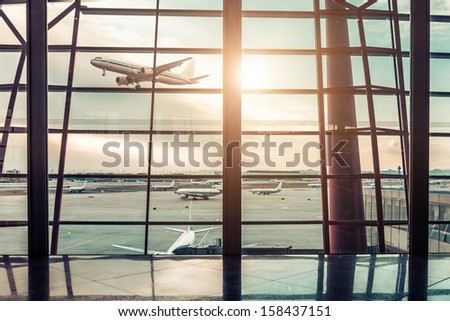 Airport in Beijing - stock photo