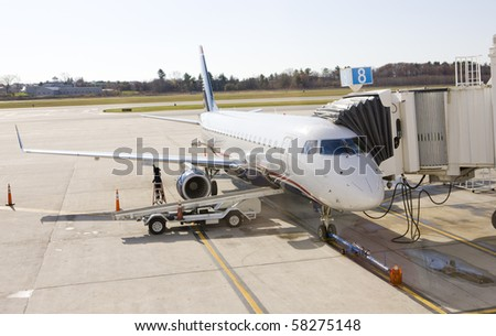 airport in Portland, Maine, USA - stock photo