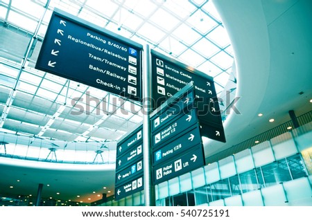 Airport information board