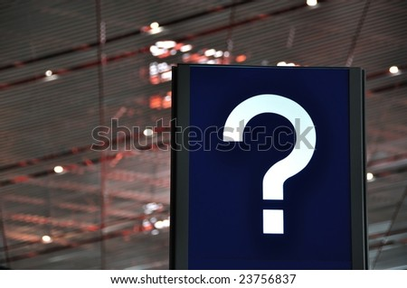 Airport information sign - stock photo