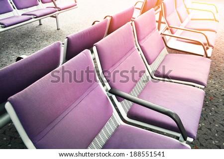 Airport lounge - stock photo