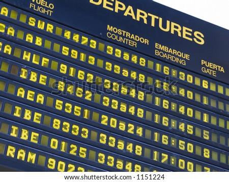 airport panel - stock photo
