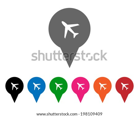 Airport pointers. Vector available. - stock photo