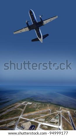 Airport runway abstract - stock photo