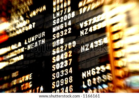 Airport scenes background series. Shot with a special effect  lens. Intentional selective focus & blur. - stock photo