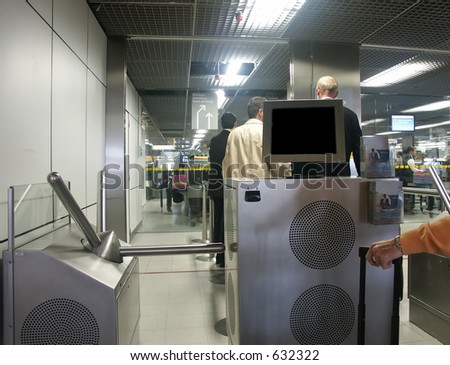 Airport security - stock photo