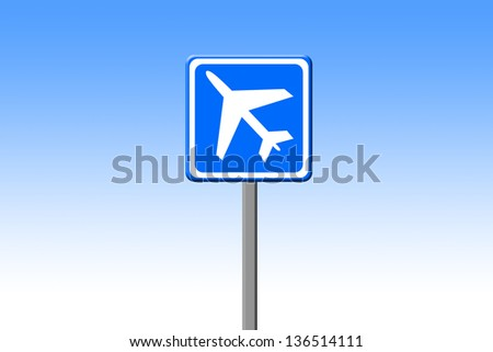 Airport sign - stock photo
