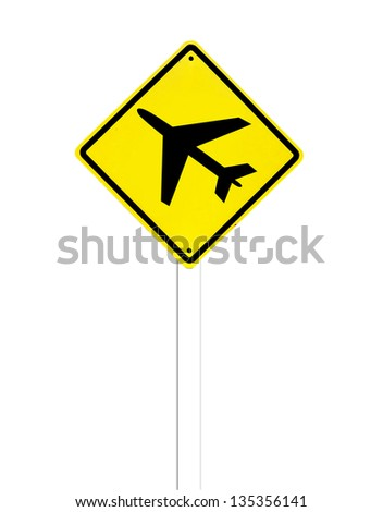 Airport sign on a white background