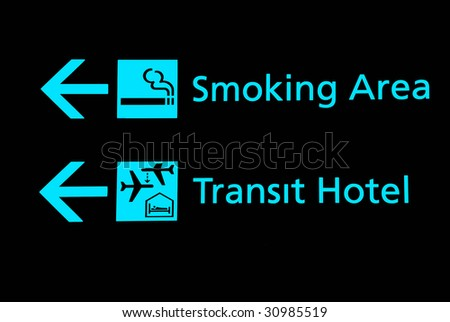 Airport signs - stock photo
