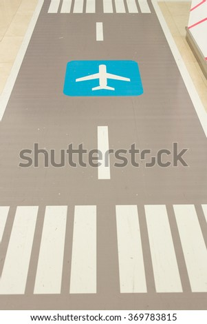 Airport Signs. - stock photo