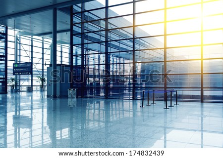 Airport space  - stock photo
