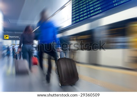 Airport Subway - stock photo