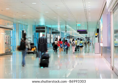Airport terminal - stock photo