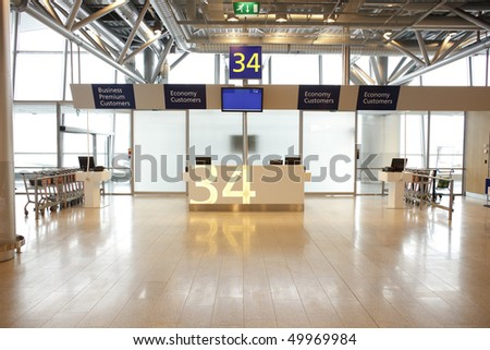 Airport Terminal Gate - stock photo