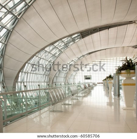 Airport Terminal Gate. - stock photo