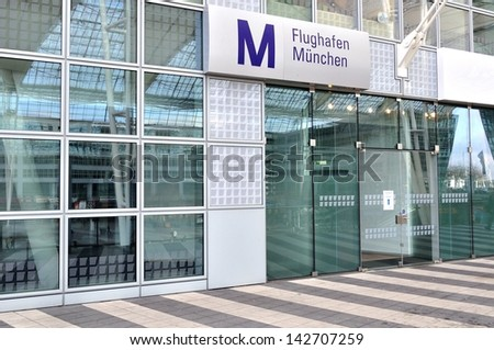 Airport terminal in Munich, Germany - stock photo
