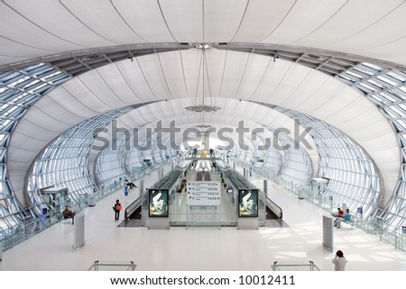 Airport terminal waiting room. - stock photo