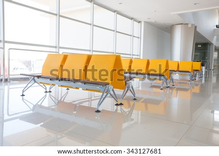 Airport waiting area.