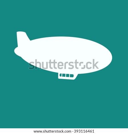 Airship Icon - stock photo