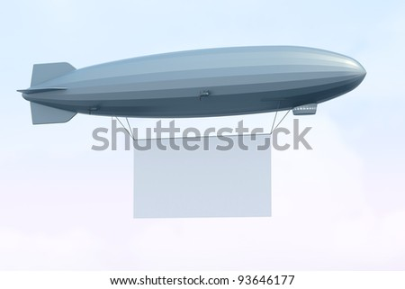 Airship with Billboard in the sky