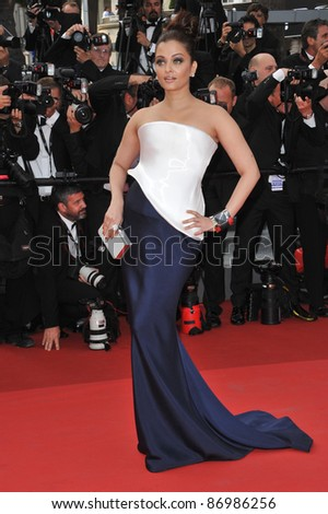"""Aishwarya Rai Bachchan at the premiere of """"Sleeping Beauty"""" in competition at the 64th Festival de Cannes. May 12, 2011  Cannes, France Picture: Paul Smith / Featureflash - stock photo"""