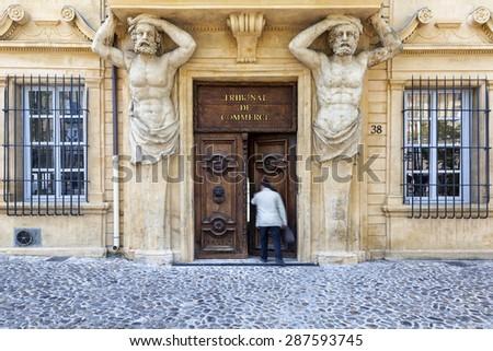 Aix en provence france june 1 2015 tribunal de - Tribunal de commerce salon de provence ...
