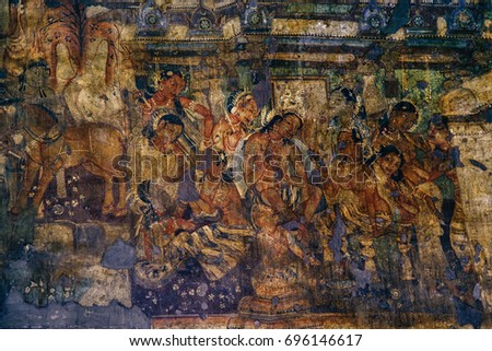 Ajanta cave paintings in india the best cave for Archaeological monuments in india mural paintings