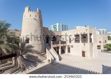 AJMAN, UAE - DEC 17: Ancient fort at the museum of Ajman. December 17, 2014 in Ajman, United Arab Emirates - stock photo