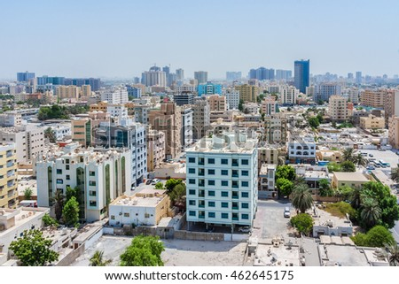 AJMAN, UNITED ARAB EMIRATES - SEPTEMBER 5, 2015: Cityscape of Ajman. Ajman is the capital of the emirate of Ajman in the United Arab Emirates.