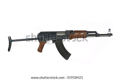 AK-47 Rifle on a white background - stock photo