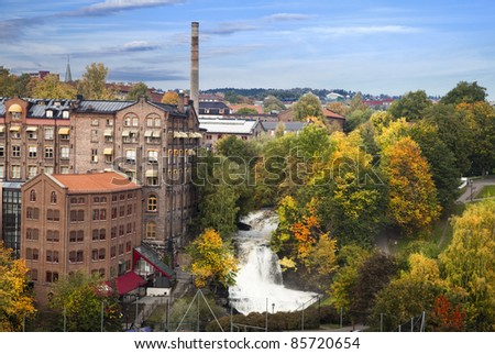 Akerselva in Oslo, Norway - stock photo